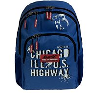 Busquets Boy's school backpack Blue Route 66 - School Backpack