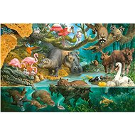 Schmidt Puzzle Animal Family by the River 100 pieces - Puzzle