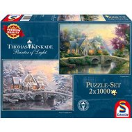 Schmidt Puzzle Spring and Winter in Lamplight Manor 2x1000 pieces - Puzzle