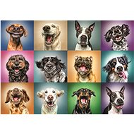 Trefl Puzzle Happy dog portraits of 1000 pieces