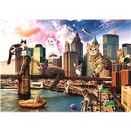 Trefl Puzzle Funny Cities: Cats in New York 1000 pieces - Puzzle