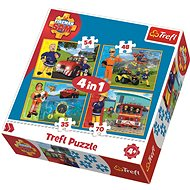 Trefl Puzzle Firefighter Sam in action 4in1 (35,48,54,70 pieces) - Puzzle