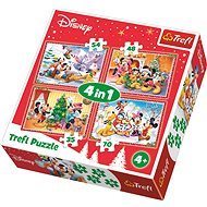 Trefl Puzzle Christmas at Mickey Mouse 4-in-1 (35,48,54,70 pieces)