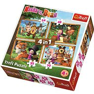 Trefl Puzzle Masha and the Bear 4in1 (35,48,54,70 pieces) - Puzzle