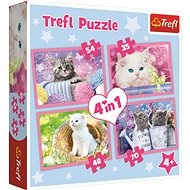 Trefl Puzzle Playful Kittens 4-in-1 (35,48,54,70 pieces)