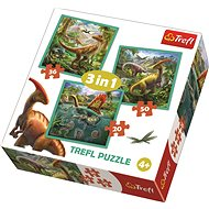 Trefl Puzzle The Extraordinary World of  Dinosaurs 3in1 (20,36,50 pieces) - Puzzle