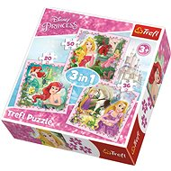 Trefl Disney Princess Puzzle with Animal Friends 3-in-1 (20, 36, 50 pieces) - Puzzle