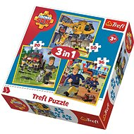 Trefl Puzzle Firefighter Sam 3-in-1 (20, 36, 50 pieces) - Puzzle
