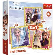Trefl Puzzle Ice Kingdom 2: The Power of Anna and Elsa 3in1 (20,36,50 pieces) - Puzzle