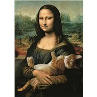 Trefl Mona Lisa Puzzle with a Cat 500-piece - Puzzle