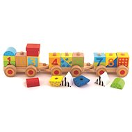 Trefl Wooden educational train with numbers - Wooden Toy