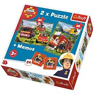 Trefl Puzzle Firefighter Sam 30 + 48 pieces + Memory Game - Puzzle