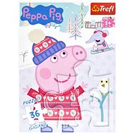 Hit the Peppa Piglet Puzzle: Winter GIGANT 36 pieces