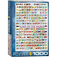 Eurographics Puzzle Flags of the world 1000 pieces - Puzzle