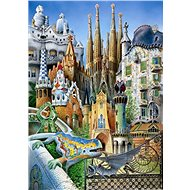 Educa Miniature Puzzle Collage from the Work of A. Gaudí 1000 pieces - Puzzle