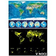 Educa Glowing puzzle World map 1000 pieces - Puzzle