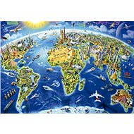 Educa Puzzle Map with world monuments 2000 pieces - Puzzle