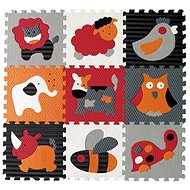 Baby Great Foam Puzzle Animals Gray-Red SX (30x30) - Puzzle