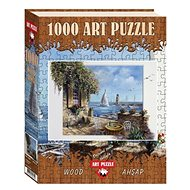 Art Wooden puzzle Terrace by the sea 1000 pieces - Puzzle