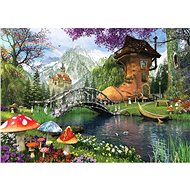 Art Puzzle A fairytale house in an old shoe of 1000 pieces - Puzzle