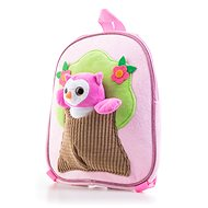 G21 Plush owl backpack, pink - Backpack