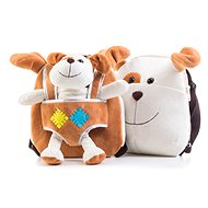 G21 Plush dog backpack, double-sided, brown - Backpack