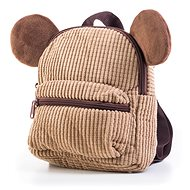 G21 Plush Backpack with Handles, Brown - Backpack