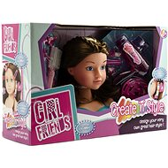 Combing  Head with Accessories - Brunette - Creative Toy