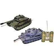 Battle T-34 and Tiger (2 tanks) - Remote control tank