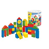 Woody Coloured Blocks, 50 pieces - 2,5cm - Wooden Blocks