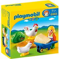 Playmobil 6965 Farmer's Wife with Hens - Building Kit