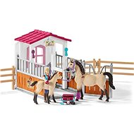 Schleich Stables with Arabian horses and a nurse