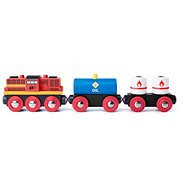 Woody Diesel Locomotive with Freight Train - Rail Set Accessory