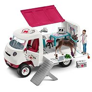 Schleich Mobile Veterinary Clinic with mare and nurse - Game Set