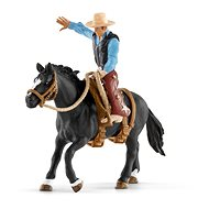 Schleich 41416 Saddled Horse with Cowboy