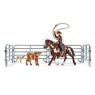 Schleich 41418 Cowboy with Lasso on Horse and Accessories