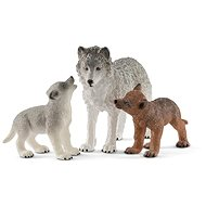 Schleich 42472 Mother Wolf with Pups - Figure