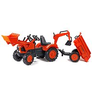 Tractor with Front and Rear Loaders - Pedal Tractor