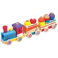 Maxi Colourful Wooden Train Maxi