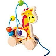 Pulling Giraffe, Wooden Labyrinth - Educational Toy