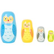 Small foot Russian Nesting Dolls Owl Family - Wooden Toy
