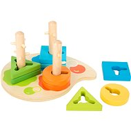 Small foot Peg and Blocks - Wooden Toy