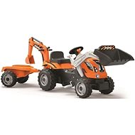 Smoby Builder Max Cart with Excavator, Orange - Pedal Tractor