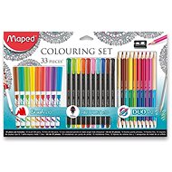 Maped Colouring Set, 33pcs - Art Supplies