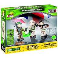 Cobi 2028 British Soldiers 3 Figures with Accessories - Building Kit