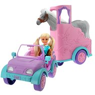 Sparkle Girl Car with Trailer for Horse - Doll