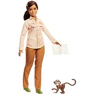 Barbie Occupations National Geographic Wildlife Conservationist (with Monkey) - Doll Accessory