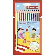 Stabilo Trio Thick Coloured Pencils 12pcs