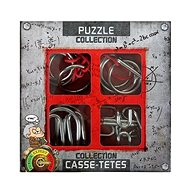 Set of 4 Metal Extreme Puzzles - Brain Teaser