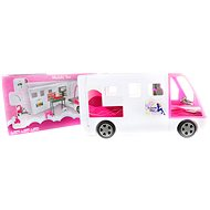 Large White Caravan for Dolls - Toy Vehicle